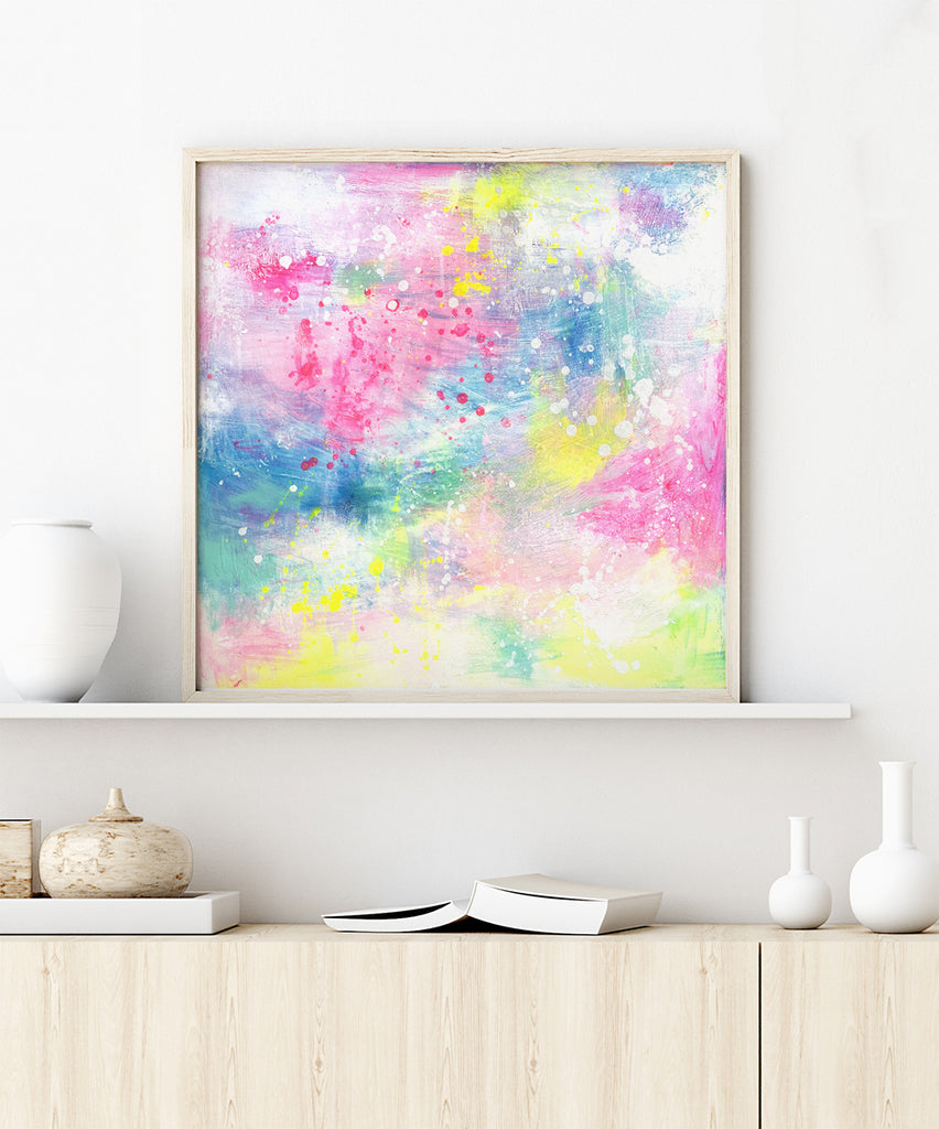 Above the Clouds Original Painting by Lamai Anne