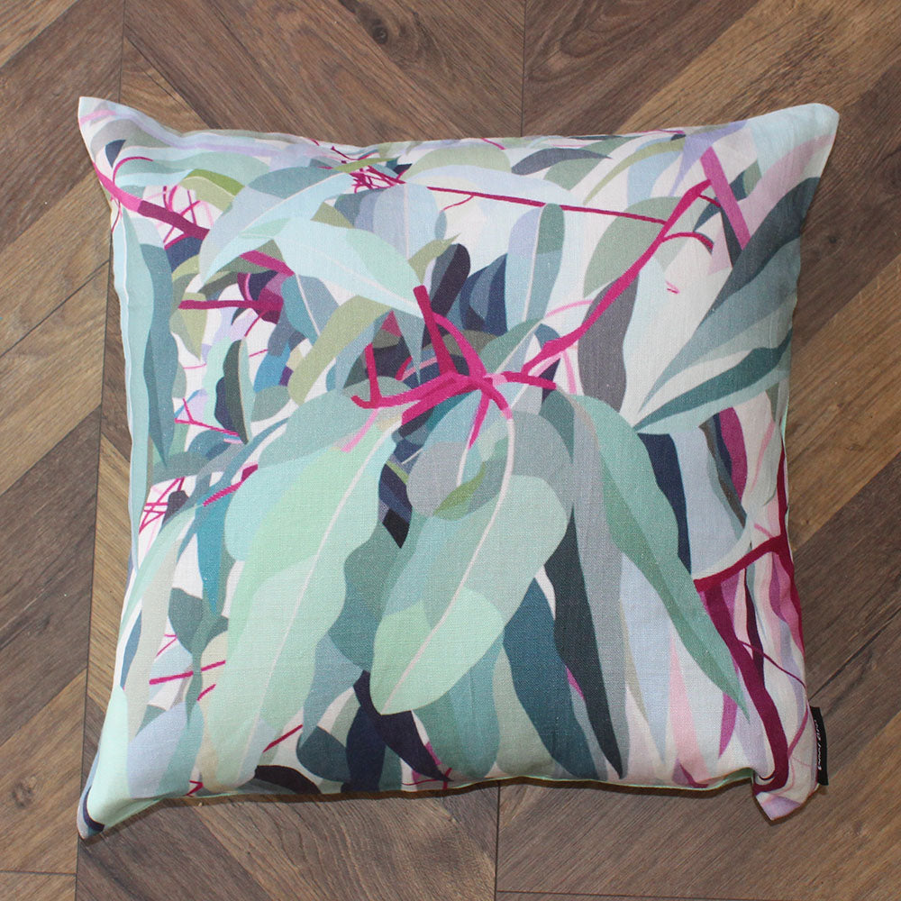 Gum Leaves Linen Cushion