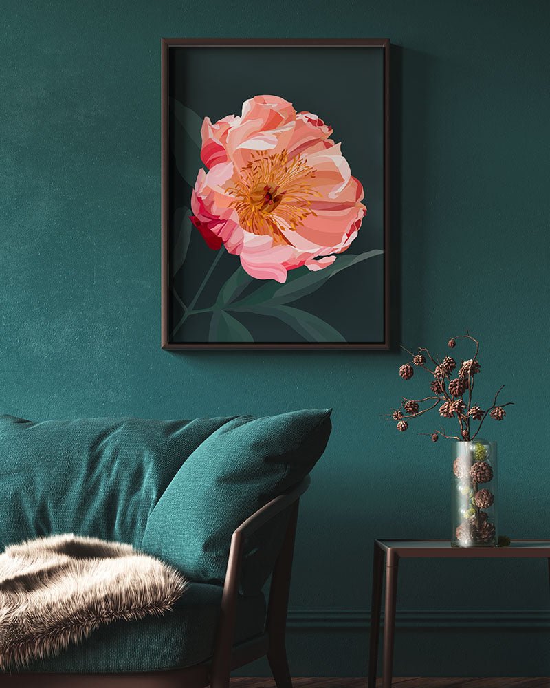 Coral Peony Limited Edition Print