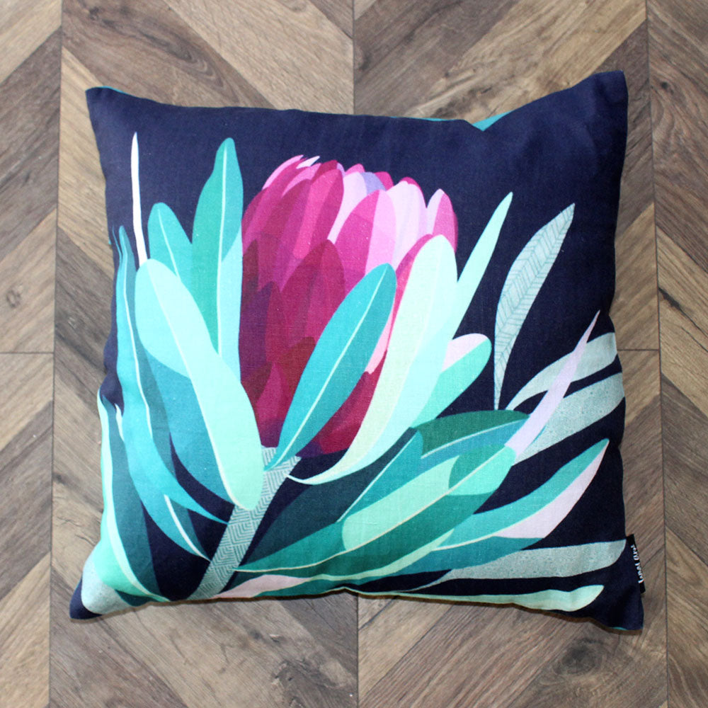 Protea Linen Cushion