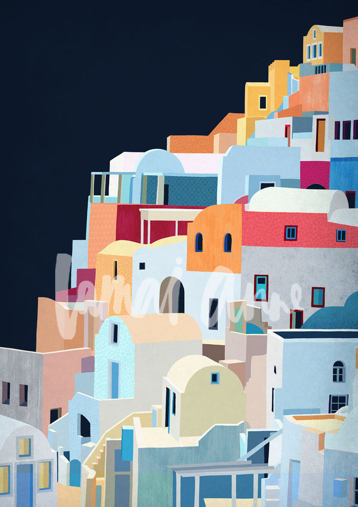 Santorini Portrait Limited Edition Print