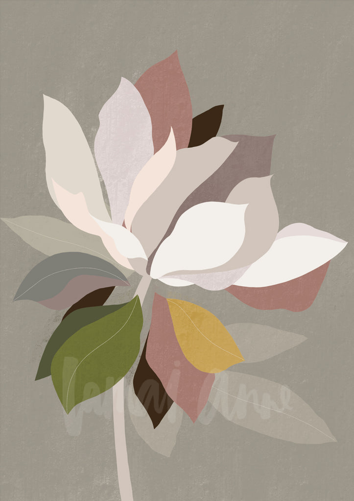 Autumn Bloom Abstract Fine Art Print