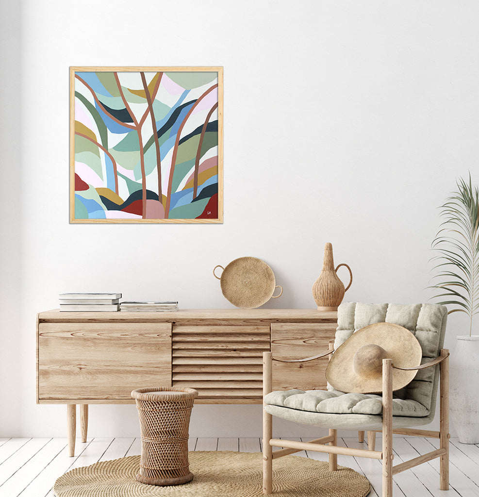 Beneath the Gum Trees Original Painting by Lamai Anne