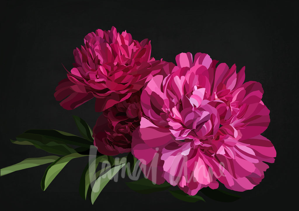Berry Peonies Limited Edition Print