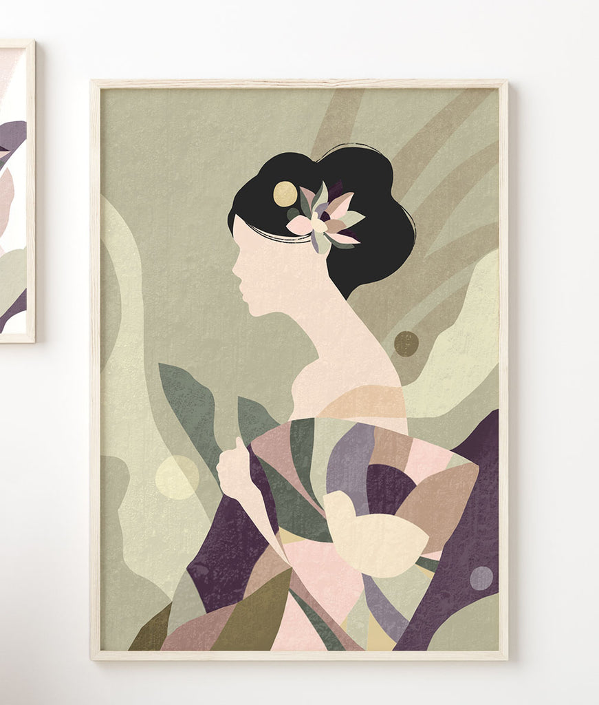 Geisha Abstract Fine Art Print