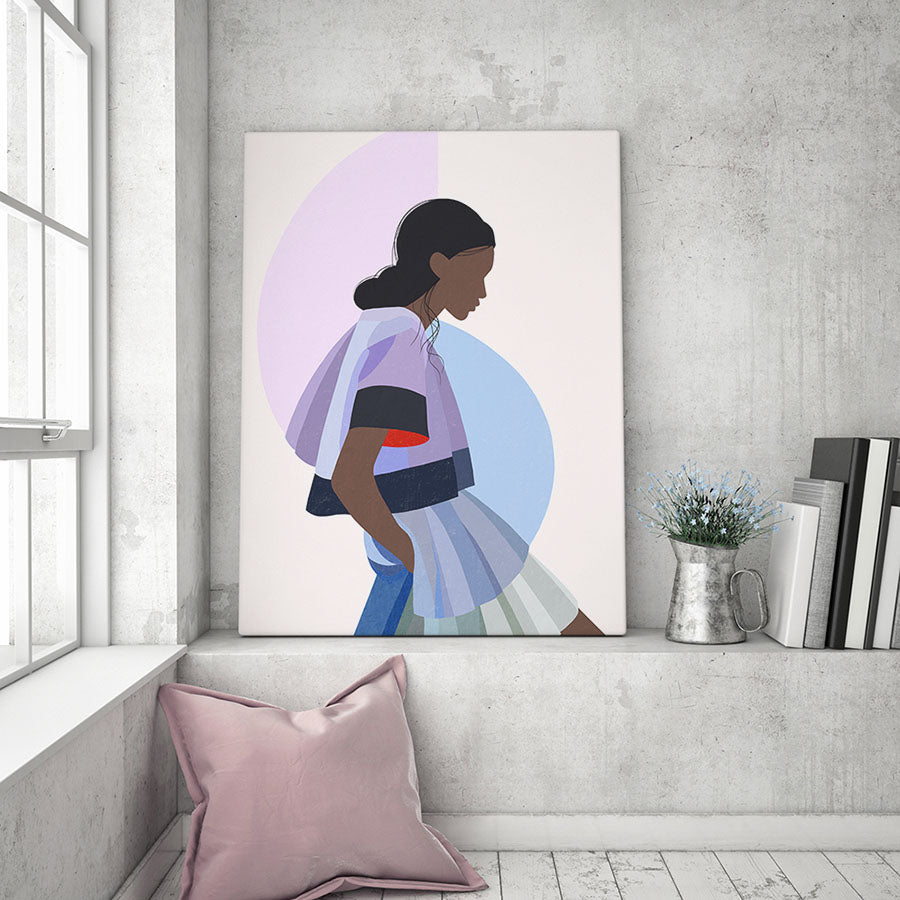Girl in Lilac Abstract Fine Art Print
