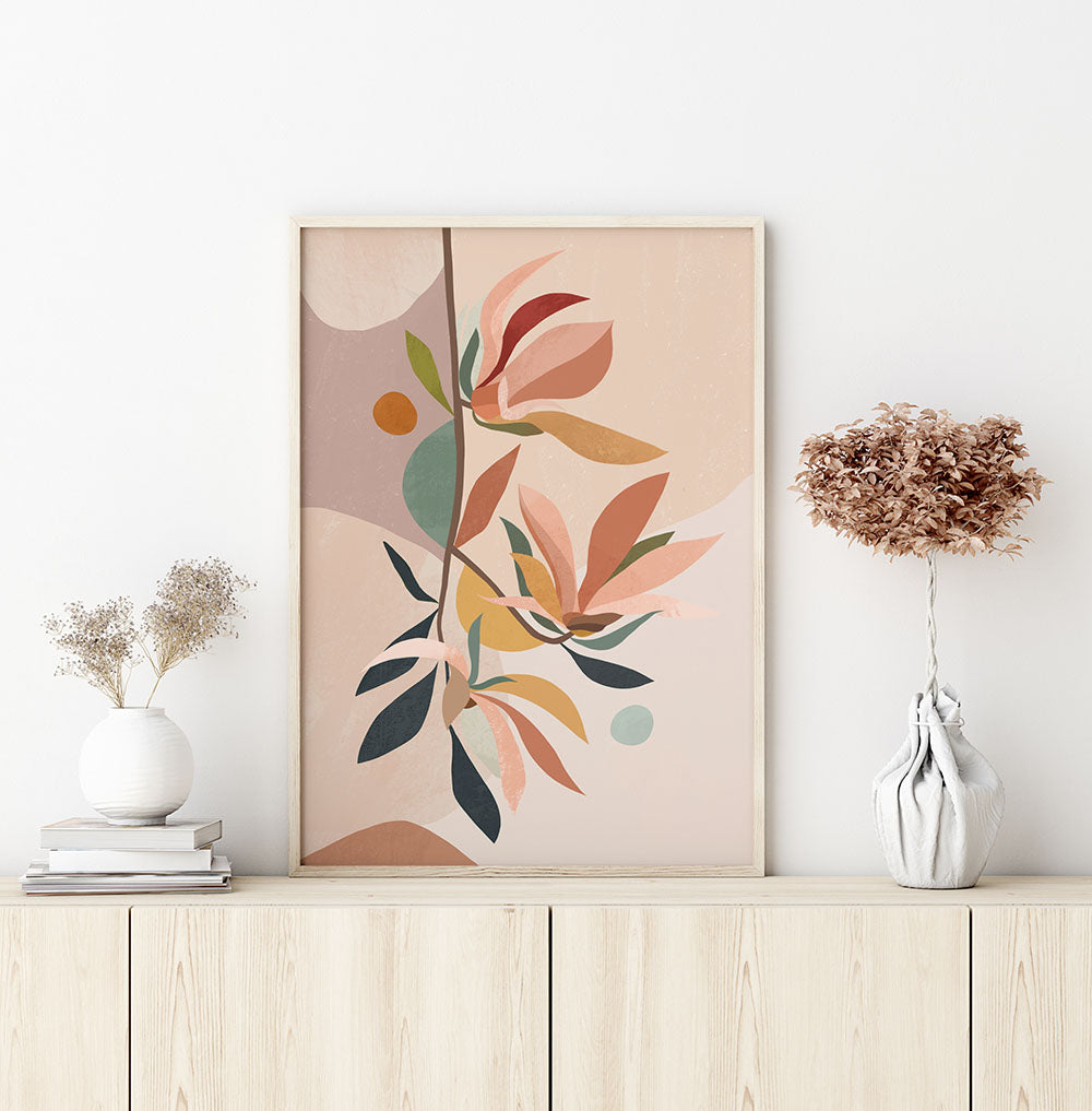 Magnolia Abstract Fine Art Print