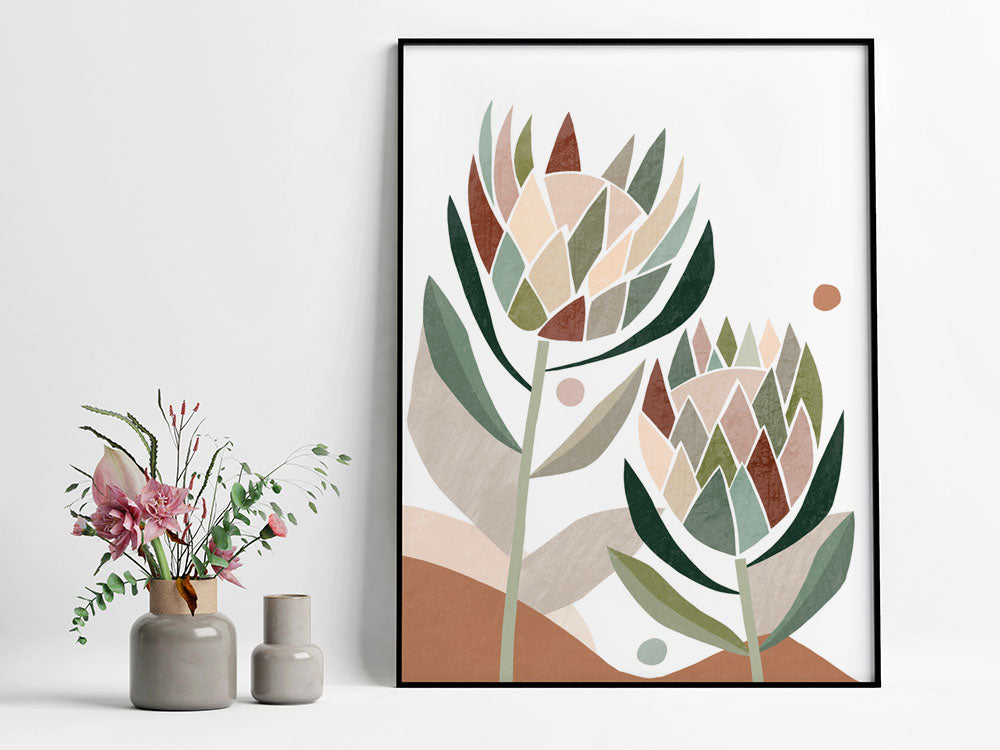 Protea Abstract Fine Art Print