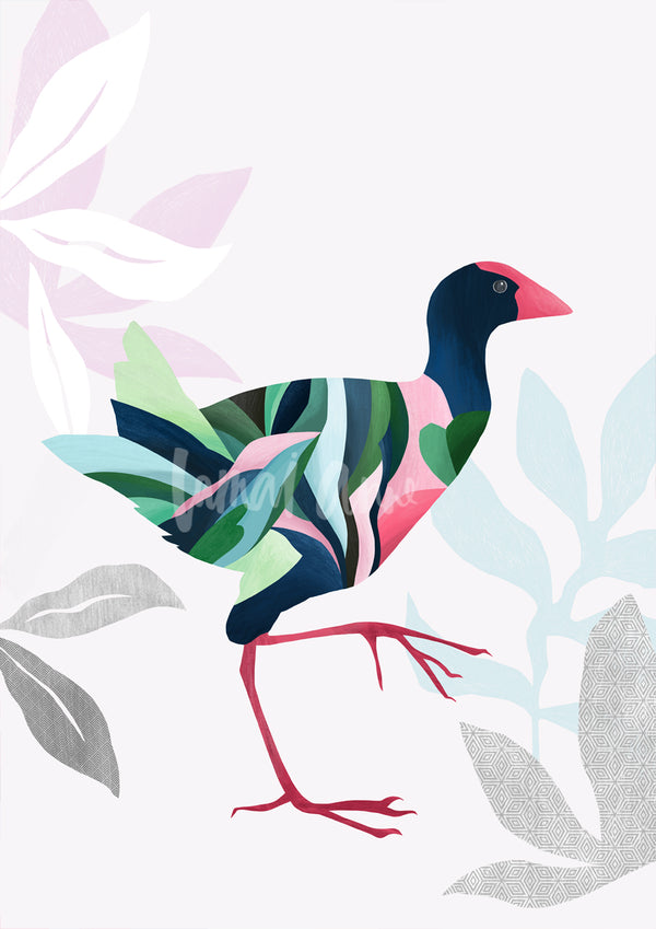 pukeko wall art