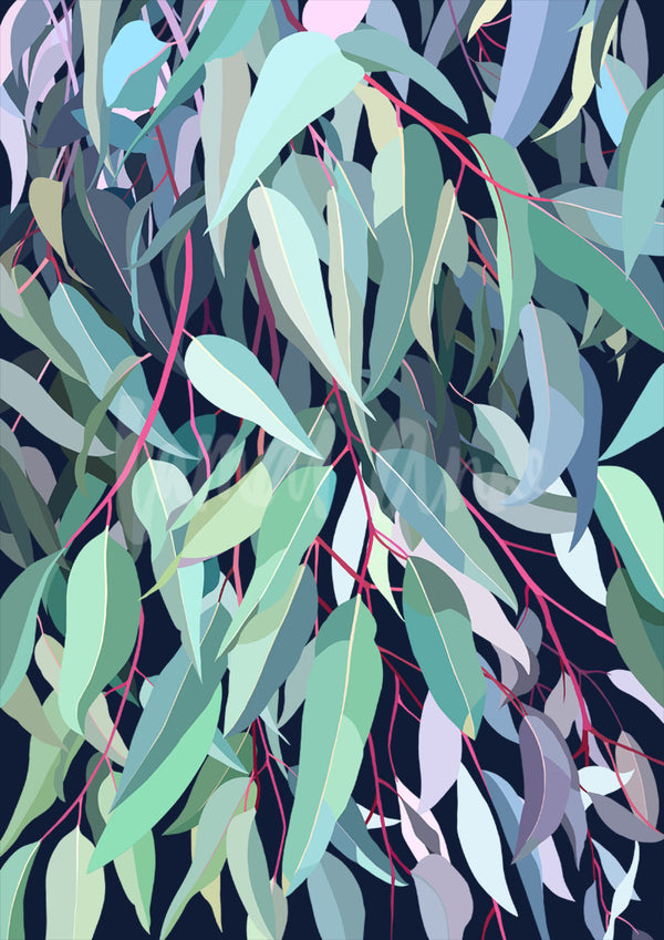 Tallarook Gum on Navy Limited Edition Print art print