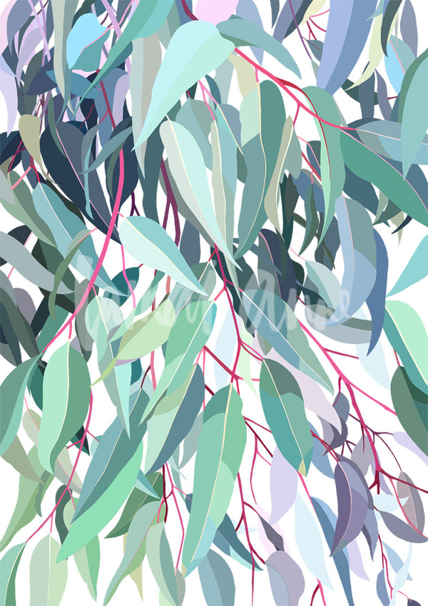 Tallarook Gum on White Limited Edition art print