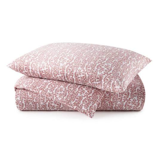 Fern Berry Percale Duvet Cover