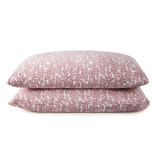 Fern berry percale sleeping shams
