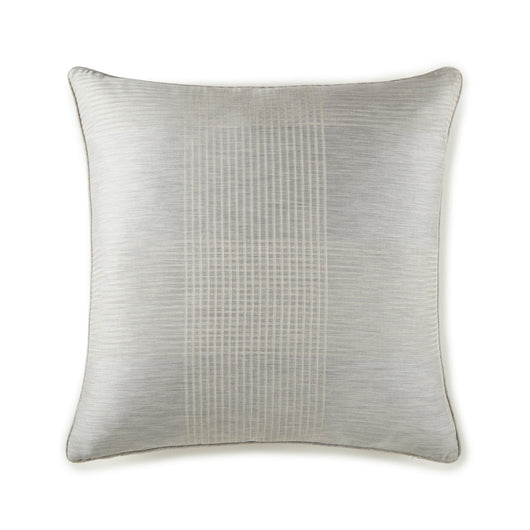 Matteo plaid pewter square throw pillow
