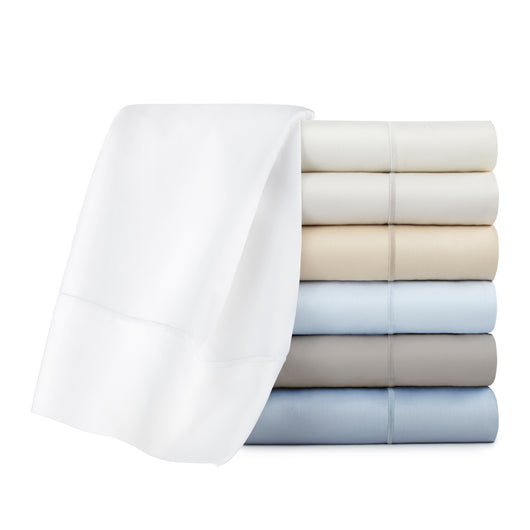 stack of Soprano sateen sheets in various colors