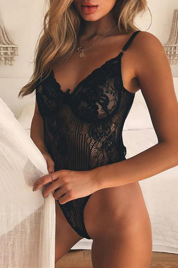 destacado y tendencia verano 2018 para mujer sexy body lencero en color negro liz nation web