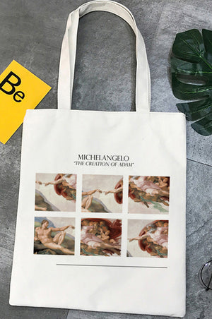 Bolsa Tote Michelangelo CREATION OF ADAM