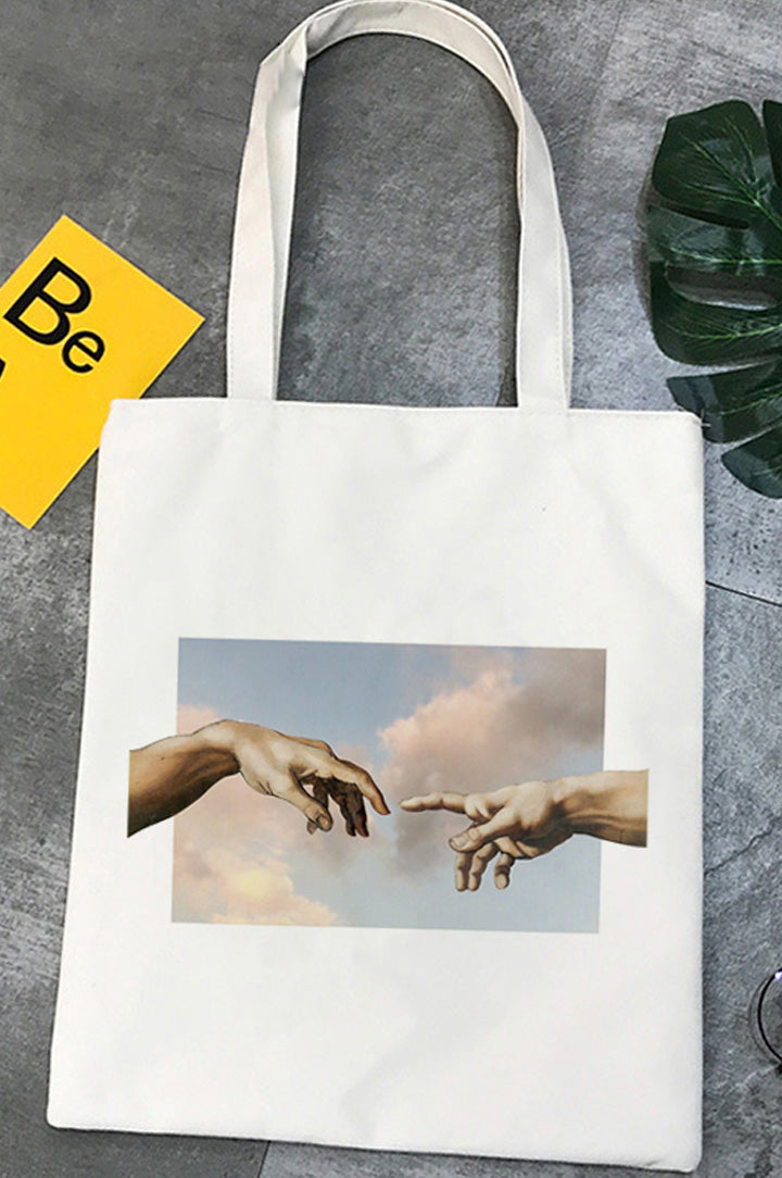 Bolsa Tote Michelangelo CREATION OF ADAM HANDS