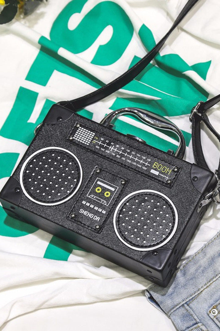 nuevo bolso en forma de radio retro antigua con envio gratis y color negro liz nation web