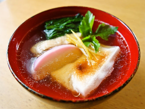Japanese Ozouni Rice Cake Soup