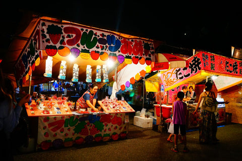 Japanese summer festival - food stall