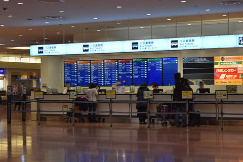 Bus ticket counter at Haneda airport