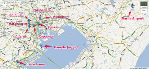 Narita & Haneda location comparison