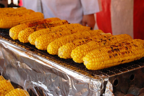 Japanese summer festival - food stall Yakimorokoshi Grilled Corn hub