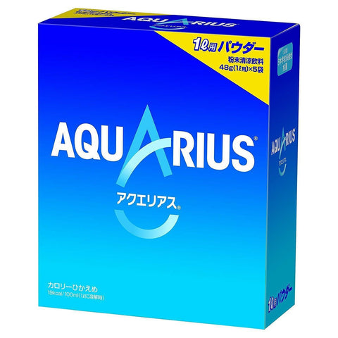 Image of Aquarius Powder (48g x 25pcs) Sports Energy Drink  アクエリアスパウダー 48g×25袋 Matcha Tokyo Direct