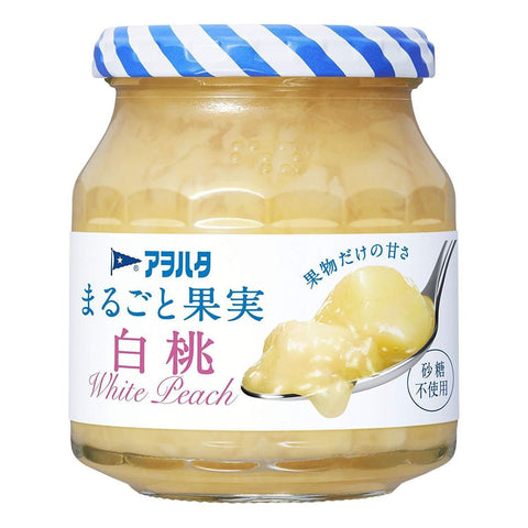 Ayohata Real Fruit White Peach Jam 3pcs アヲハタ まるごと果実 白桃 Food Tokyo Direct