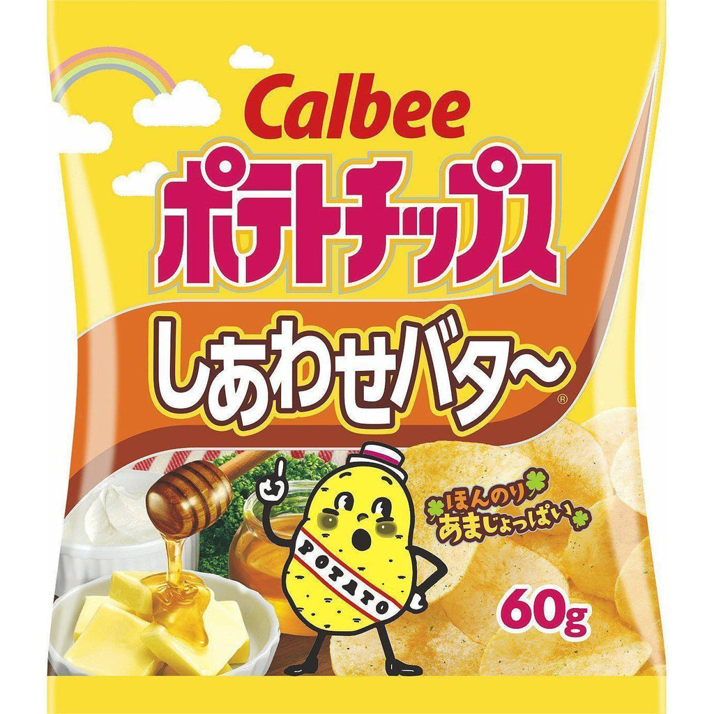 Calbee Potato Chips (Special Butter) 12pcs カルビー ポテトチップス しあわせバター 12袋 Snack Tokyo Direct