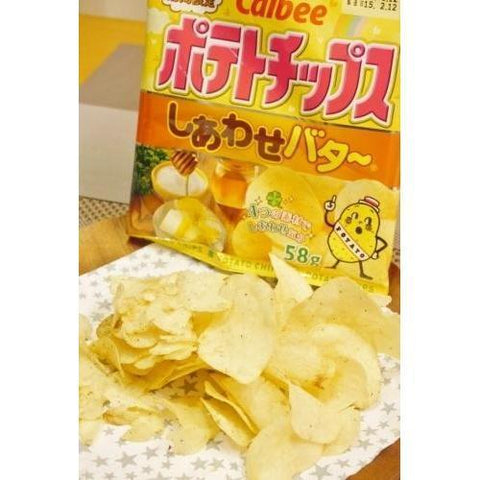 Image of Calbee Potato Chips (Special Butter) 12pcs カルビー ポテトチップス しあわせバター 12袋 Snack Tokyo Direct