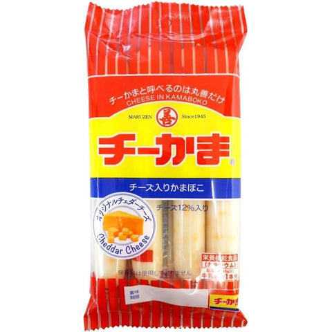 Cheese Kamaboko Cheese & Cod Paste Stick 5pack 丸善 チーかま4本パック 5袋 Food Tokyo Direct