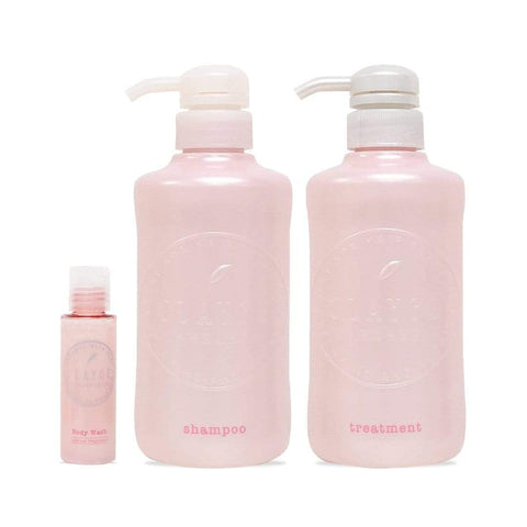 Image of CLAYGE Shampoo & Treatment Set (Spring Limited Sakura) クレージュ シャンプー&トリートメントサクラセット Life Tokyo Direct