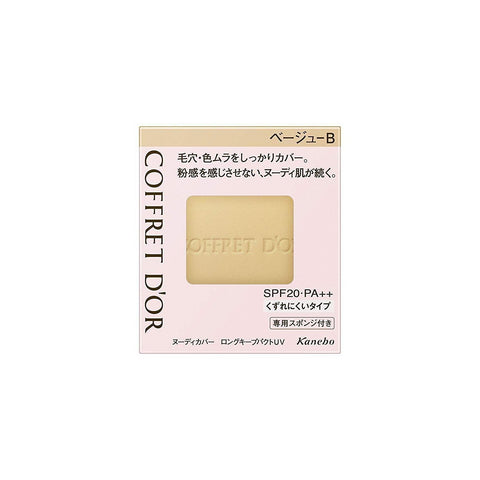 Image of COFFRET D'OR Nudy Cover Long Keep Pack UV コフレドール ロングキープパクトUV Life Beige B refill Tokyo Direct