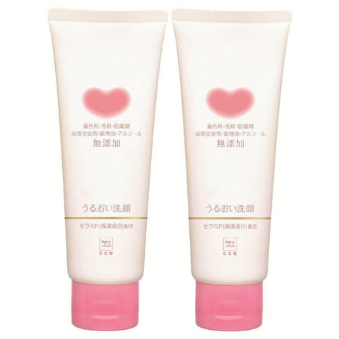 Image of Cow Brand Mutenka Moisture Cream Face Wash 2pcs カウブランド無添加うるおい洗顔 2個 Life Tokyo Direct