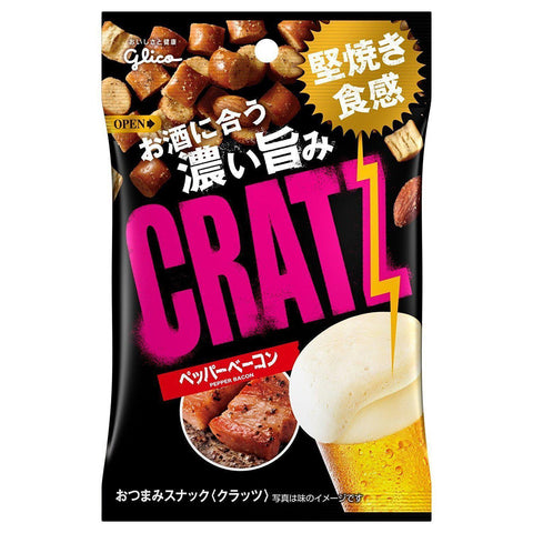 Image of CRATZ (Pepper Bacon) 10pcs クラッツ ペッパーベーコン 10個 Snack Tokyo Direct