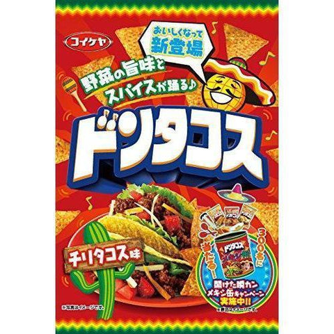 Image of Don Tacos (Chilli Tacos) 12pcs ドンタコス チリタコス味 12袋 Snack Tokyo Direct