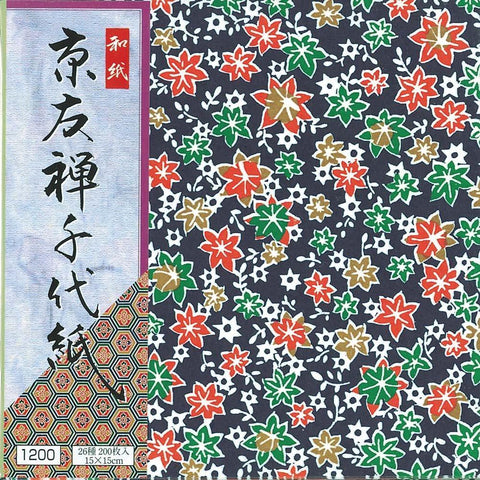 Ehime Yuzen Chiyogami 200 paper エヒメ紙工 友禅千代紙  200枚入 KY-12015 Toy Tokyo Direct