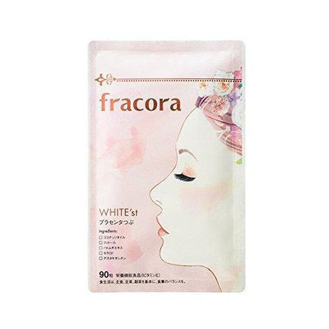 FRACORA WHITE'st Placenta Supplement (90 tablets) fracora whtie'st(フラコラ ホワイテスト) プランセンタつぶ 90粒 Life Tokyo Direct