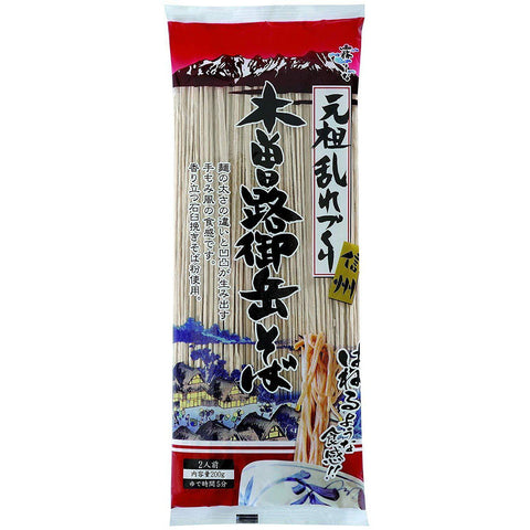 Image of Hakubaku Kisoji Rough Soba Noodle 12pcs はくばく 木曽路御岳そば12袋 Food Tokyo Direct