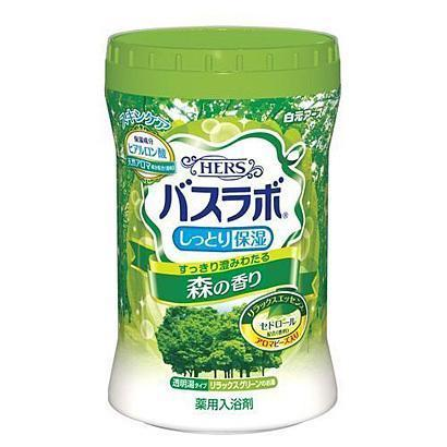 Hakugen Bath Labo HERS (Relaxing Forest) 680g 白元 バスラボ HERS ボトル 森の香り 680g Life Tokyo Direct