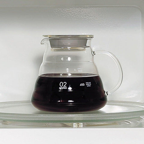 Image of HARIO V60 Microwave Coffee Server HARIO (ハリオ) V60 レンジサーバー コーヒードリップ XGS Kitchen 360ml Tokyo Direct