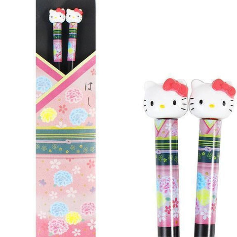 Hello Kitty Chopsticks (Japanese style 和風)Pink Kitchen Tokyo Direct