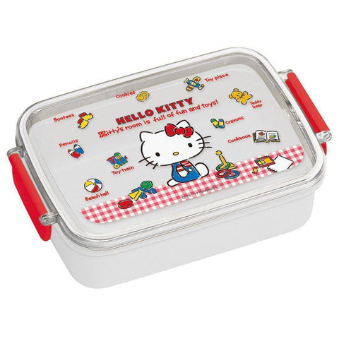 Hello Kitty Lunch Box (gingham check) 弁当箱 ハローキティ ギンガムチェック 日本製 RB3A Kitchen Tokyo Direct