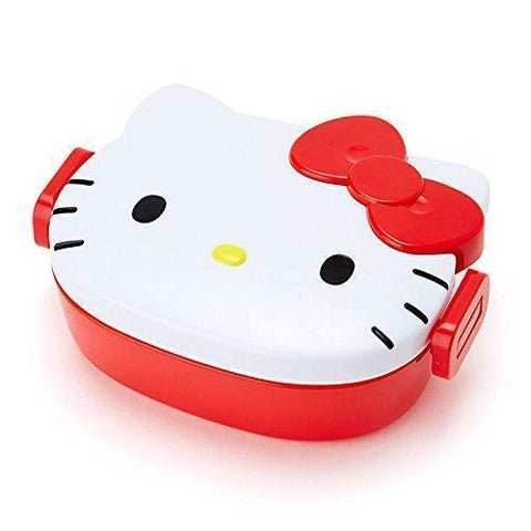 Image of Hello Kitty Lunch Box ハローキティ フェイス形ランチケース Kitchen Tokyo Direct