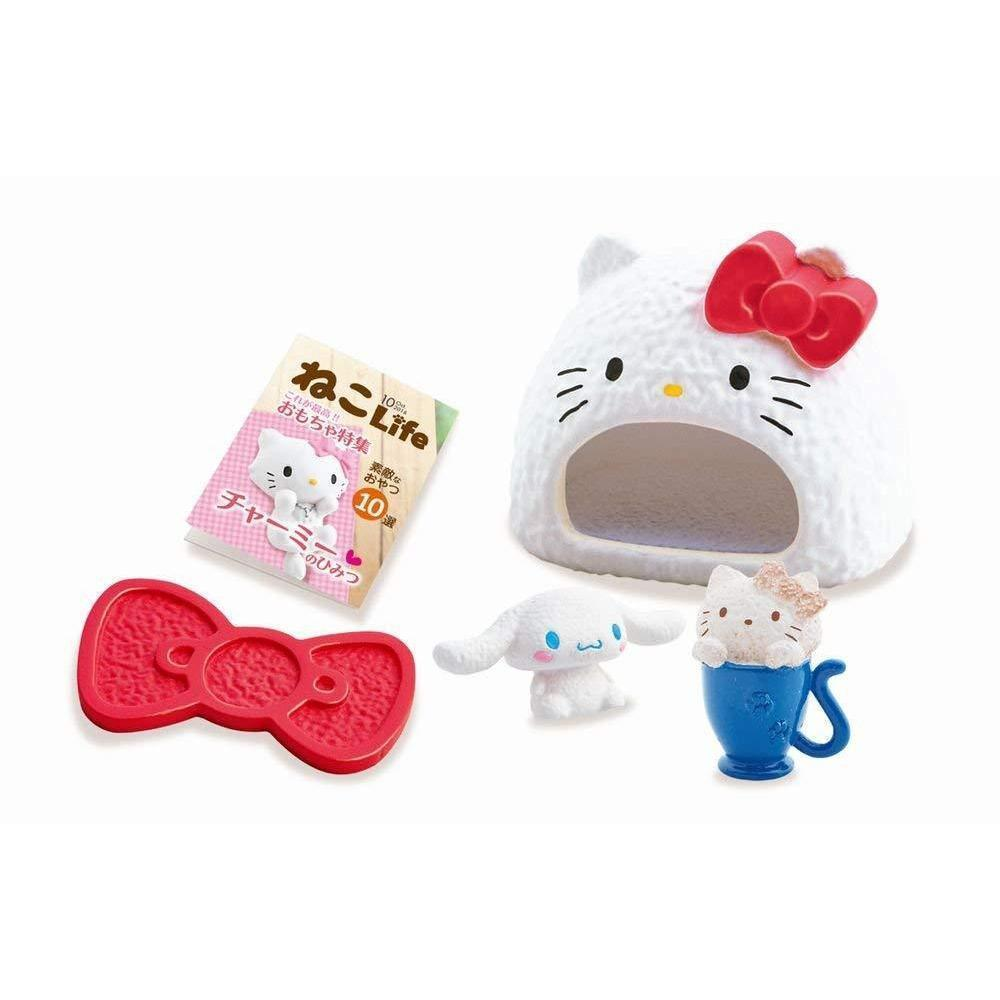Hello Kitty Shokugan Small Toy (Kitten Cafe)ハローキティ猫カフェ フルコンプ 8個入 食玩・ガム (ハローキティ) Toy Tokyo Direct