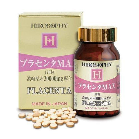 Hirosophy Placenta MAX Supplement (120 tablets) ヒロソフィー プラセンタMAX 120粒 Life Tokyo Direct
