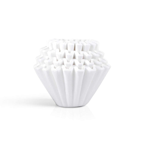 Image of Kalita Coffee Filter Wave White KWF 185 (100 filterrs) #22212 カリタ コーヒーフィルター ウェーブシリーズ 100枚入り ホワイト KWF-185 Kitchen Tokyo Direct