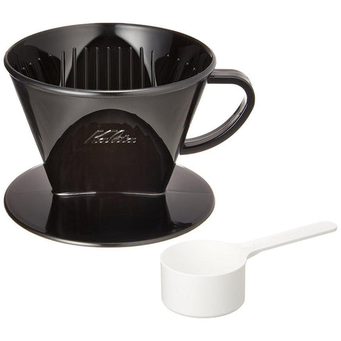 Image of KALITA Plastic Coffee Dripper (for 2-4 cups) Black カリタ プラスチック製コーヒードリッパー(2~4人用) ブラック Kitchen Tokyo Direct